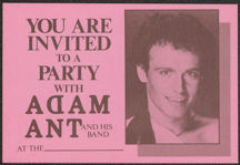 #MUSIC434 - 1984 Adam Ant Backstage Pass for Females Only
