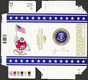 #PL254 - George W. Bush M & M Box with Presidential Seal