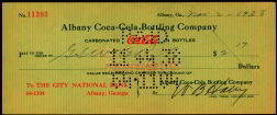 #CC077 - Scarce 1930s Albany, GA Coke Check