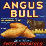 #ZLC220 - Angus Bull Brand Sweet Potato Crate Label