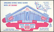 #CA042 - Unpunched APCO Gasoline Advertising Premium Airplane Glider