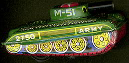 #TY278 - TIn Litho Japanese Army M-51 Friction Tank