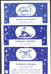 #ZZA143 - Complete Set of 48 Exhibit Supply Astrology Arcade Cards