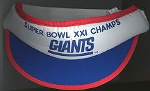 #BA010  - Super Bowl XXI Champs N.Y. Giants Football Baby Visor