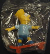 #CH236  - Early Licensed Bagged Bart Simpson Action Figure