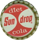 #BC035 - Group of 10 Diet Sun Drop Cola Cork Lined Caps