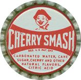 #BC025 - Group of 10 Cherry Smash Bottle Caps