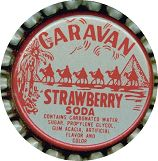 #BC016 - Group of 10 Caravan Strawberry Bottle Caps