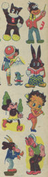 #CH245 - Set of Three Rare Early Betty Boop Transfer Sheets