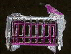 #TY294 - Bird on a Cage Metal Penny Toy