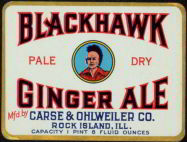 Thumbnail of Blackhawk Pale Dry Ginger Ale Label, 1930s