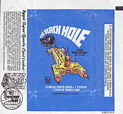 #ZZA074 - 1979 Disney Black Hole Movie Waxed Trading Card Wrapper