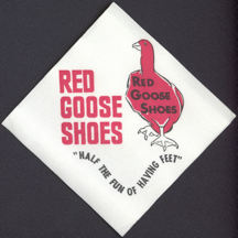 #CH246 - Red Goose Shoe Napkin