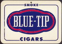 #SIGN054 - Blue-Tip Cigar Fan Hanger Sign