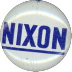 #PL260 - Blue and White Nixon Campaign Button