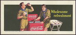 #CC203 - 1942 Coca Cola Blotter with Boy Scouts