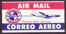 #CA043 - Early Gummed Braniff Airline Label