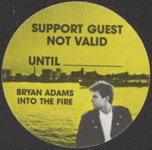 #MUSIC093  - Round 1987 Bryan Adams Into the Fire OTTO Backstage Pass