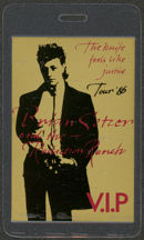 #MUSIC468 - 1986 Brian Setzer and the Radiation Ranch Laminated Backstage Pass from The Knife Feels LIke Justice Tour
