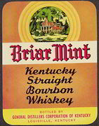#ZLW108 - Briar Mint Kentucky Straight Bourbon Whiskey Label