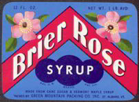 #ZBOT097 - Brier Rose Syrup Bottle Label