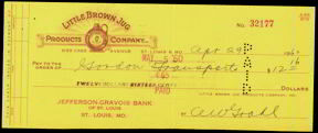 #ZZZ010 - 1960 Little Brown Jug Check
