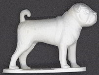 #TY324 - Nicely Detailed Pug Dog Figure