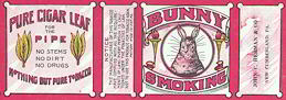 #ZLT028 - Bunny Brand Smoking Tobacco Pack Label