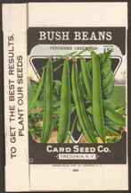 #CS204 - Card Seed Tennessee Green Pod Beans Seed Box
