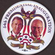 #PL207 - Large Bush Cheney 54th President Inaugaral Pinback