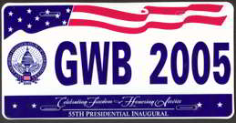 #PL240 - George W. Bush Souvenir License Plate