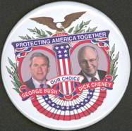 #PL213 - Large Bush Cheney Protecting American Together Jugate