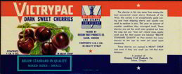 #ZLCA070 - Victry Pac WWII Can Label