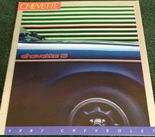 #CA069 - Color Catalog for 1987 Chevrolet Chevette
