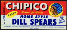 #ZBOT077- Chipico Pickle Jar Label