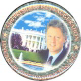 #PL248 - Clinton 53rd Presidential Inauguration Pin with White House Background