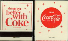 #CC072 - Unused Coca Cola Front Cover Striker Matches - Snowflake Design