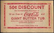 #CC015 - Coca Cola Butter Tub Theater Coupon