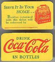 #CC029 - Group of 3 Coca Cola Bottle Redemption Cards