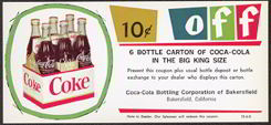 #CC193 - Type 1 - Coca Cola 10 Cents off 6 Bottle King Carton Coupon