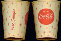 #CC075 - Coca Cola Snowflake Design Free Sample Cup