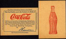 #CC063 - Early Coke Thomas Plant Coupon - 1915 Bottle