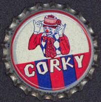 #BC084 - Corky the Clown Cork Lined Bottle Cap
