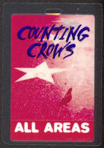 #MUSIC443 - Scarce 1996 Counting Crows Laminated Backstage Pass from The Recovering Satellites Tour