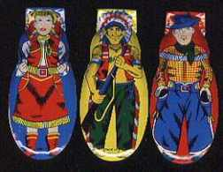 #TY003 - Cowboy, Cowgirl, and Indian Clickers Set