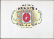 #ZLSC060 - Early Crane's Imported Cigar Label