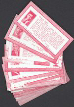 #ZZA157 - Complete Set of 24 Different Cupid's Post Office Exhibit Supply Cards