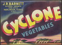 #ZLC195 - Cyclone Vegetables Crate Label
