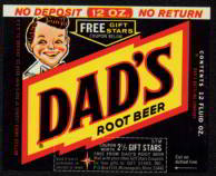 #ZLS092 - Dad&#39;s Root Beer Label