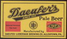 #ZLBE056 - Daeufer&#39;s Pale Beer IRTP Label